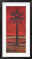 Framed Crimson Palm II