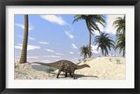 Framed Dicraeosaurus in a Prehistoric Environment