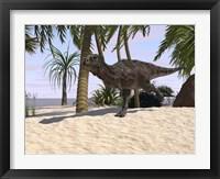 Framed Majungasaurus Running