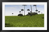 Framed Lystrosaurus in a Grassy Field
