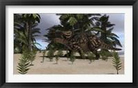Brown Einiosaurus Framed Print