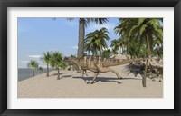 Framed Ceratosaurus Running
