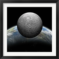 Framed Cratered Moon