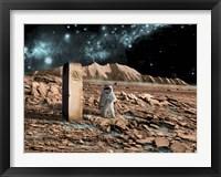 Framed Astronaut on an Alien World