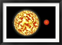 Framed Binary Star System and Planets