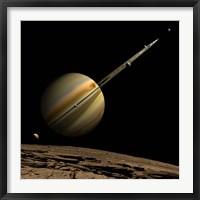 Framed Ringed Gas Planet