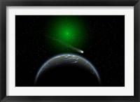 Framed Comet Passing Alien World