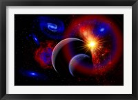 Framed Sunrise over Alien Worlds