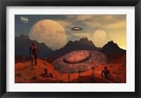 Framed Alien Flying Saucer