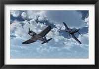 Framed American Vought F4U Corsair
