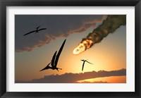 Framed Pteranodons in Flight