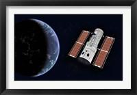 Framed Hubble Space Telescope
