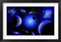Framed Blue Stars