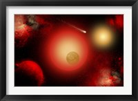 Framed Distant Ninary Star System