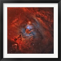 Framed Christmas Tree Nebula