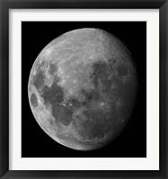Framed Three Quarter Moon