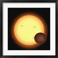 Framed HD 209458B (Extra Solar Planet)