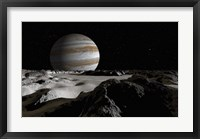 Framed Jupiter's Large Moon, Europa