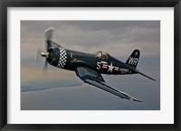 Framed Vought F4U-4 Corsair