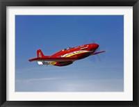 Framed Dago Red P-51G Mustang
