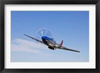 Framed P-51D Mustang in Flight
