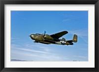Framed B-25G Mitchell Bomber