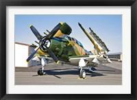 Framed Douglas AD-5 Skyraider