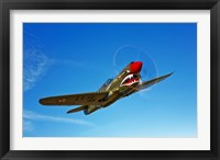 Framed P-40E Warhawk