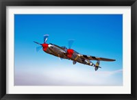 Framed Lockheed P-38 Lightning Fighter