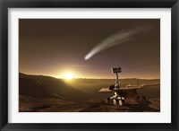 Framed Comet over Endeavour Crater