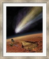 Framed 2014 Comet over Aromatum, Mars