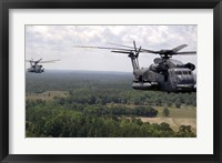 Framed MH-53 Pave Low Helicopters