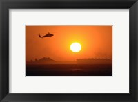 Framed Army Blackhawk Helicopter