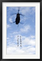 Framed US Soldiers Suspended by a CH-47 Chinook