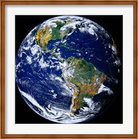 Framed Full Earth Showing The Americas