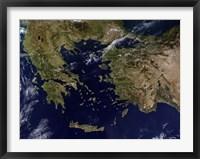 Framed Greece and Turkey