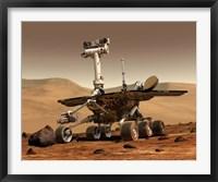Framed Mars Rover