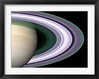 Framed Saturn's Rings
