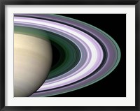 Framed Saturn's Rings