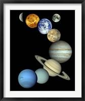 Framed Solar System Montage