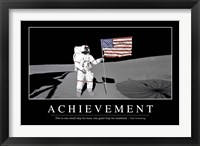 Framed Achievement: Inspirational Quote and Motivational Poster