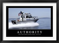 Framed Authority: Inspirational Quote and Motivational Poster