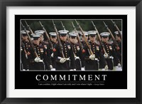 Framed Commitment: Inspirational Quote and Motivational Poster