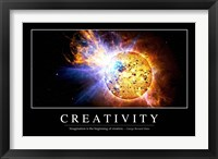 Framed Creativity: Inspirational Quote and Motivational Poster