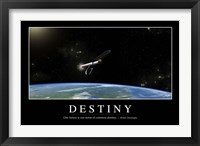Framed Destiny: Inspirational Quote and Motivational Poster
