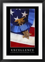Framed Excellence: Inspirational Quote and Motivational Poster
