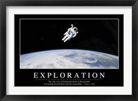 Framed Exploration: Inspirational Quote and Motivational Poster