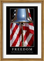 Framed Freedom: Inspirational Quote and Motivational Poster