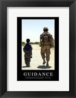 Framed Guidance: Inspirational Quote and Motivational Poster