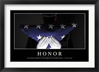 Framed Honor: Inspirational Quote and Motivational Poster